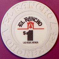 $1 Casino Chip. El Rancho, Las Vegas, NV. O77. - Casino