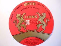 GG021 - Grande étiquette De Fromage BRIE LIONS Fromagerie La Chapelle Aux Pots Oise - Emballage Loevenbruck Dieue Meuse - Käse
