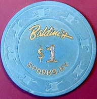 $1 Casino Chip. Baldini's, Sparks, NV. O77. - Casino