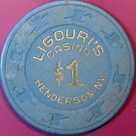 $1 Casino Chip. Ligouri's, Henderson, NV. O77. - Casino
