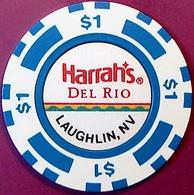 $1 Casino Chip. Harrahs Del Rio, Laughlin, NV. O77. - Casino