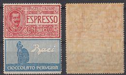 ITALIA - 1925 - Espresso Cioccolato Perugina, Non Emesso, Nuovo SENZA TRACCE DI LINGUELLA. - 1900-44 Victor Emmanuel III