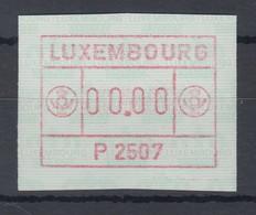 Luxemburg ATM P2507 Nulldruck 00.00 **  - Vignettes D'affranchissement