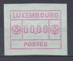 Luxemburg ATM Kleines POSTES Mi.-Nr. 2 Nulldruck 00.00 ** - Vignettes D'affranchissement