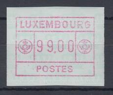 Luxemburg ATM Kleines POSTES Mi.-Nr. 2 Höchstwert 99.00 Fr. ** - Vignettes D'affranchissement
