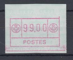 Luxemburg ATM Kleines POSTES Mi.-Nr. 2 Höchstwert 99.00 Fr. Als Teildruck ** - Vignettes D'affranchissement
