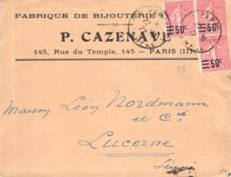MiNr.202 MeF Paris - Luzerne - Francia