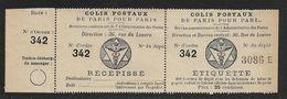 France Colis P. De Paris Pour Paris N°2 Type I** - Paquetes Postales