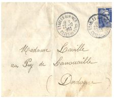 (G 3) France Cover (very Old / Condition As Seen On Scan) 1953 - Cartas