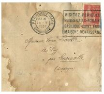 (G 3) France Cover (very Old / Condition As Seen On Scan) 1937 - 1932-39 Paz