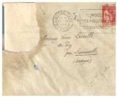 (G 3) France Cover (very Old / Condition As Seen On Scan) 1934 - 1932-39 Paz
