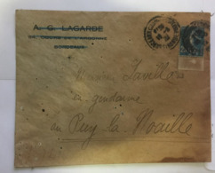 (G 3) France Cover (very Old / Condition As Seen On Scan) Sent To Ex-Gendarme (Policeman) - Francia