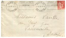 (G 3) France Cover (very Old / Condition As Seen On Scan) 1935 (wit Tuberculose Label At Back Of Cover) - 1932-39 Paz