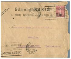 (G 3) France Cover (very Old / Condition As Seen On Scan) 1927 - Francia