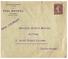 (G 3) France Cover (very Old / Condition As Seen On Scan) 1930 - Francia
