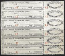 France Colis P. De Paris Pour Paris N°171**feuille De 6. Cote 162€ - Paquetes Postales