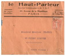 (G 3) France Cover (very Old / Condition As Seen On Scan) 1920 - Francia