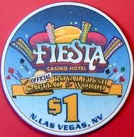 $1 Casino Chip. Fiesta, N. Las Vegas, NV. 8th CC&GTCC Convention. O78. - Casino