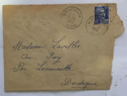 (G 3) France Cover (very Old / Condition As Seen On Scan) 1953 - Francia