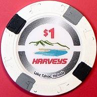 $1 Casino Chip. Harvey's, Lake Tahoe, NV. O78. - Casino