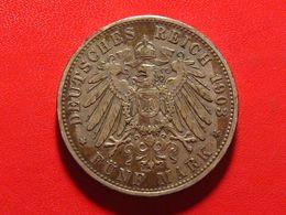 Allemagne - Bavière - 5 Mark 1903 D 4932 - [ 2] 1871-1918 : German Empire