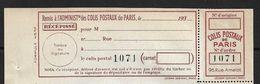 France Colis P. De Paris Pour Paris N°162** . Cote 35€ - Paquetes Postales