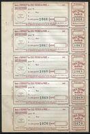 France Colis P. De Paris Pour Paris N°162** Une Feuille De 5. Cote 175€ - Paquetes Postales