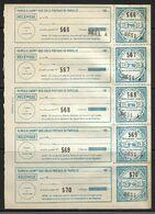 France Colis P. De Paris Pour Paris N°154** Une Feuille De 5. Cote 135€ - Paquetes Postales