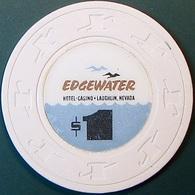 $1 Casino Chip. Edgewater, Laughlin, NV. O80. - Casino