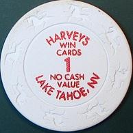 $1 Casino Chip. Harvey's, Lake Tahoe, NV. O80. - Casino