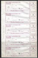 France Colis P. De Paris Pour Paris N°165 Une Feuille De 5. Cote 125€ - Paquetes Postales