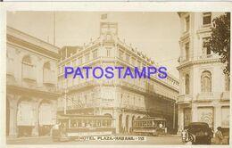 140527 CUBA HABANA HOTEL PLAZA & TRANVIA TRAMWAY POSTAL POSTCARD - Postcards