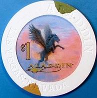 $1 Casino Chip. Aladdin, Las Vegas, NV. O81. - Casino