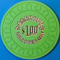 $1 Casino Chip. Barney's, Lake Tahoe, NV. Rare. O81. - Casino