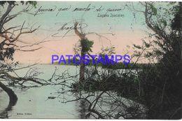 140591 PARAGUAY LAGUNA IPACARAY VISTA PARCIAL CIRCULATED TO URUGUAY POSTAL POSTCARD - Paraguay