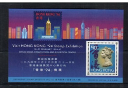 (stamp 15-8-2020) Visit Hong Kong 1994 Mint Mini-sheet (with $ 10.00 Stamp) - Neufs