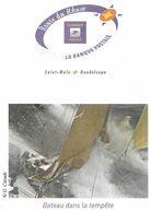 ROUTE DU RHUM SAINT MALO GUADELOUPE ( BATEAU VOILIER DANS LA TEMPETE ) PAP ENTIER POSTAL FLAMME LA POSTE 2010, A VOIR - Sailing