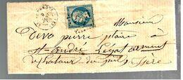 35738 -ST ANDRE LE GAZ Type  22 - Marcophilie (Lettres)