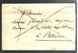 35739 - 50 CHAUMONT En Rouge - Marcophilie (Lettres)