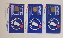 LOT 3 ANCIENNES CARTES GSM SIM ITINERIS FRANCE TELECOM FRANCE T.B.E !!! - Frankreich