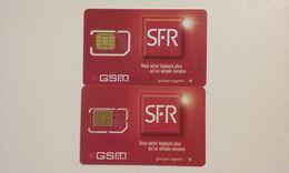 LOT 2 ANCIENNES CARTES GSM SIM SFR T.B.E !!! - Frankreich