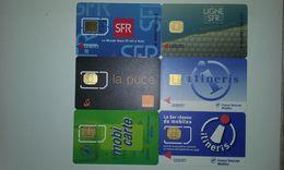 LOT 6 ANCIENNES CARTES GSM SIM T.B.E !!! - Frankreich