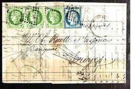 35752 - 4 TP CERES - Marcophilie (Lettres)