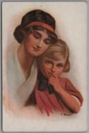 Künstlerkarte - Mutterglück Von F. Bloos - 1900-1949