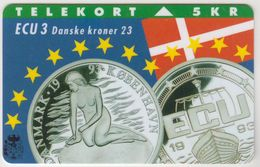 DENMARK - Ecu Series Denmark , Tele Soenderjylland 5KR, 07/93, Tirage  11.000, Used - Dänemark