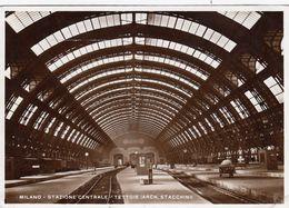 MILANO-STAZIONE CENTRALE-TETTOIE=ARCH. STACCHINI-CARTOLINA VERA FOTOGRAFIA  VIAGGIATA IL 9-9-1934 - Milano (Mailand)