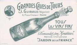 BUVARD - GRANDE CAVES DE TOURS 37 - J. GUIRAUD NEGOCIANT - VINS FINS MOUSSEUX  METHODE CHAMPENOISE JARDIN DE FRANCE - Non Classificati