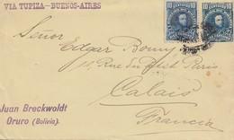 Bolivia/Bolivien: 1904: Oruro To Calais/France Via Tupiza - Bolivien