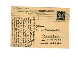 Ganzsache GG P 6 II, 01: 15.11.40 Warschau  Nach Czorsztyn - Occupation 1938-45