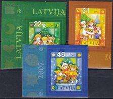 LETTLAND 2007 Mi-Nr. 716/18 ** MNH - Lettonia